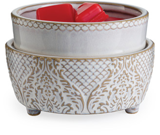 Vintage White 2-In-1 Candle and Fragrance Warmer For Candles And Wax Melts from Candle Warmers Etc.