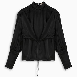 MATÉRIEL Black wrap around blouse