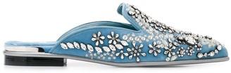 Alexander McQueen rhinestone embellished slippers
