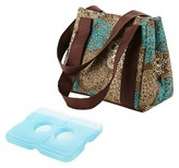 Fit & Fresh Venice Insulated Lunch Bag with Reusable Ice Pack - Teal Floral