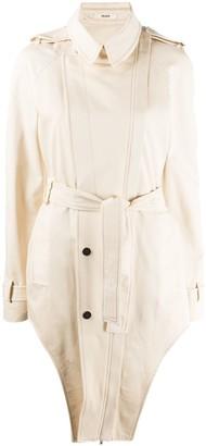 Zilver Unzipped Side Weekend Coat