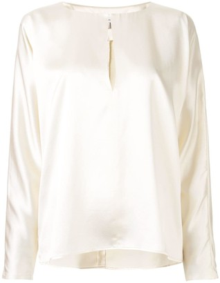 LA COLLECTION Yumi satin blouse