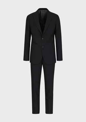 Giorgio Armani Slim-Fit, Half-Canvas, BirdS Eye Suit From The Soho Line