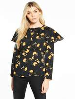 Very Cape Printed Blouse