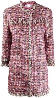 Patrizia Pepe Checked Tweed Coat