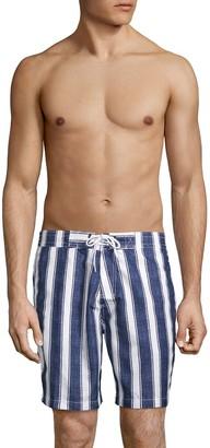 Trunks Surf + Swim Cuts Swami Striped Swim Trunks