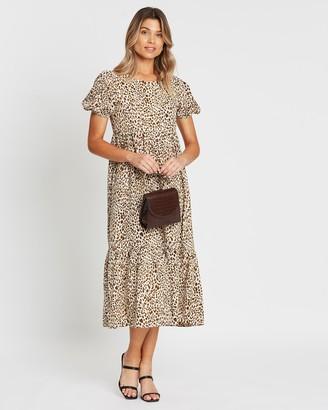 Atmos & Here Stephanie Printed Maxi Dress