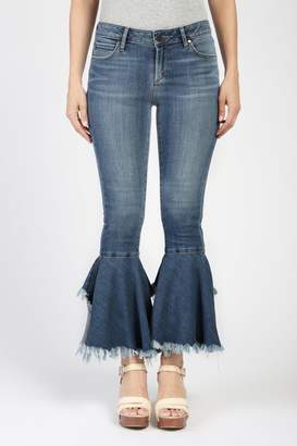 Articles of Society Distressed Crop Flare Jeans