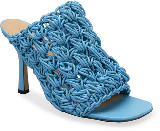 Bottega Veneta 90mm Crochet Napa Mule Sandals