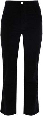 Claudie Pierlot Cropped Corduroy Straight-leg Pants