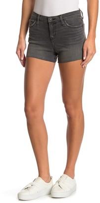 Hudson Gracie High Waist Raw Hem Denim Shorts