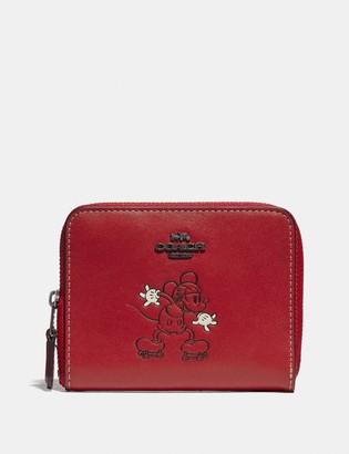 Coach Disney X Small Zip Around Wallet With Disney Motif