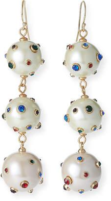 Lulu Frost Boboli Triple-Drop Earrings