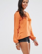 Glamorous Long Sleeve Lace Front Top