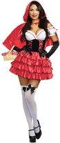 Dreamgirl Women's Red Riding Hood Costume, Red/Black