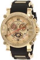 Brillier Men's 02.2.2.2.11.06 Grand Master Tourer Gold Dial Black Rubber Watch