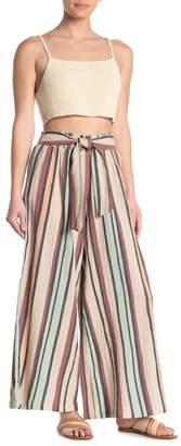 Angie Striped Tie Waist Palazzo Pants
