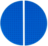 Blue Half Circle Silicone Base Plate Mat - Set of Two