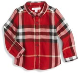 Burberry Check Print Woven Shirt (Baby Boys)