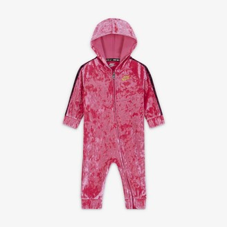 Nike Baby (0-9M) Crushed Velour Full-Zip Coverall