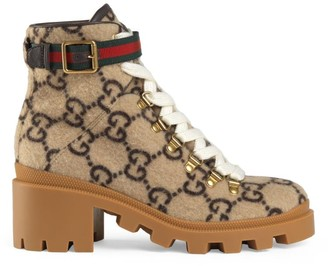 Gucci Fabric & Rubber Boots