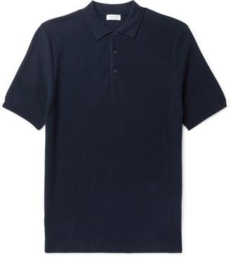 Sunspel Slim-Fit Cotton-Pique Polo Shirt