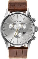Nixon Sentry Chrono Leather Watch