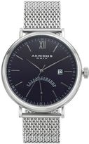 Akribos XXIV Men's Stainless Steel Mesh Watch