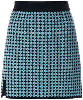ALEXACHUNG Alexa Chung embroidered fitted skirt