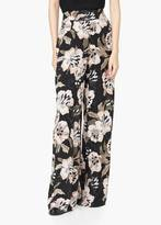 Mango Outlet Floral Palazzo Trousers