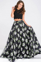 Jovani Two-Piece Lace Bodice Prom Ballgown JVN48101