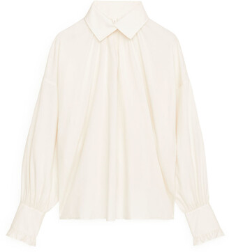 Arket Folded-Collar Lyocell Blouse