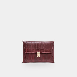 Sclarandis Amelia Shoulder Bag in Burgundy Leather