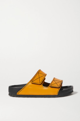 Proenza Schouler + Birkenstock Arizona Topstitched Glossed-leather Sandals - Yellow