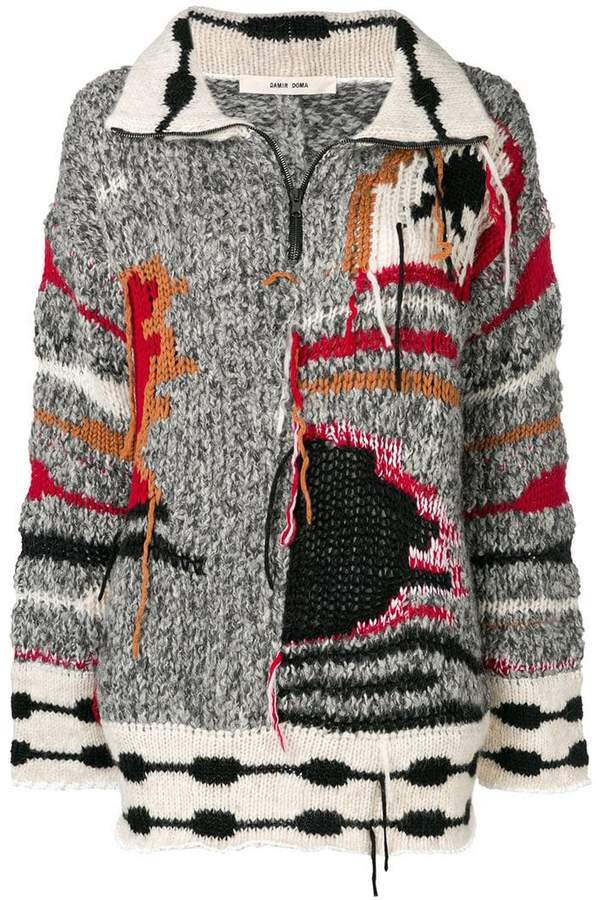 Damir Doma colour-block embroidered sweater