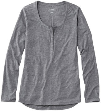 L.L. Bean L.L.Bean Women's Tencel Blend Long Sleeve Henley