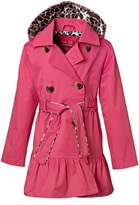 Pink Platinum [PP782444-PNKGLO Girls Jacket – Lightweight Spring Trench Coat with Ruffle Trim
