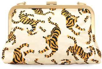 Brunna.Co Sumatran Tiger Clutch, White