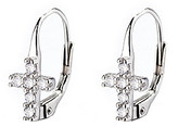 Silver Cross Amy And Annette Amy and Annette Women's Earrings Silver - Sterling Huggie Earrings With Swarovski Crystals