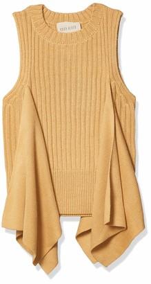Moon River Women's Flared Side Vest Sweater