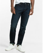 Express classic fit tapered leg dark wash jeans