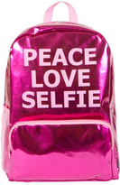 Fashion Angels Pink Metallic 'Peace Love Selfie' Backpack