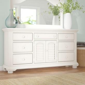 Three Posts Morpeth 7 Drawer Combo Dresser Color: Eggshell White