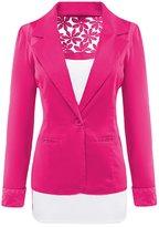 SBelle Women's Lace Slim Blazer Office & Casual Blazer Jacket Coat L