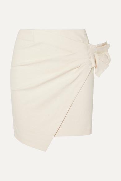 a7df364bd7 Asymmetrical Wrap Mini Skirt - ShopStyle