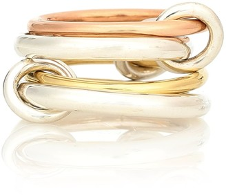 Spinelli Kilcollin Hyacinth 18kt gold and sterling silver linked rings