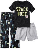 "Carter's Baby Boy Space Dude"" Tee, Spaceship Pants & Solid Shorts Pajama Set"