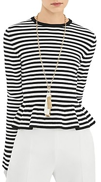 Max Mara Jerzu Striped Bell Sleeve Top
