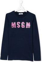MSGM floral logo patch top