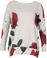 Izabel London Rose Print Sweatshirt